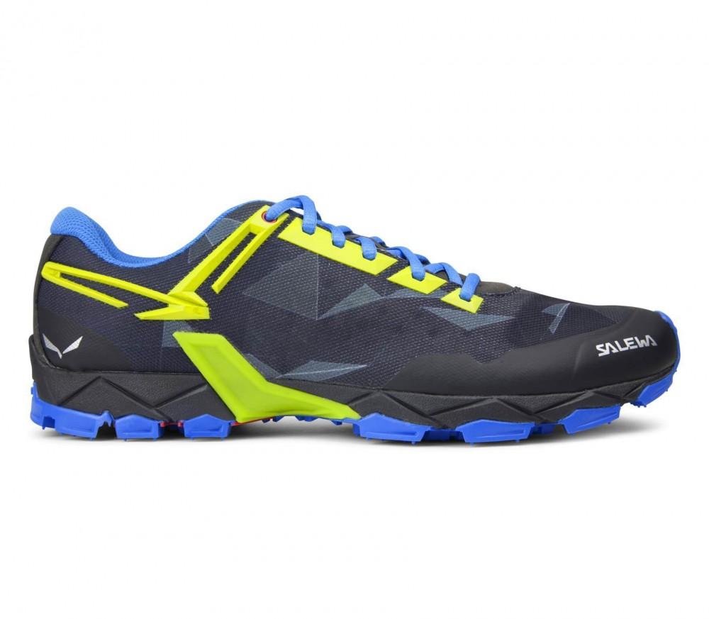 salewa lite train men 39 s mountain running shoes black blue buy it at the keller sports. Black Bedroom Furniture Sets. Home Design Ideas