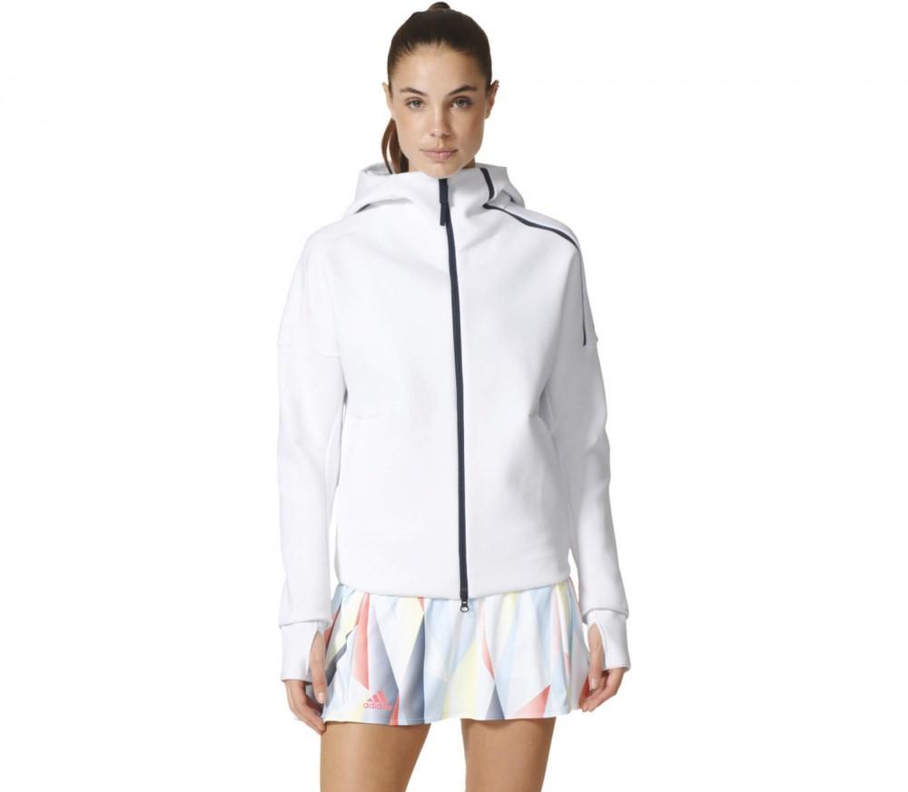 Adidas - Z.N.E. women's tennis hoodie (white/grey)