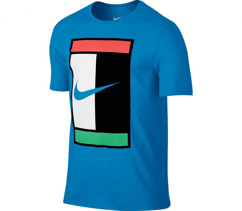 nike court logo crew mens tennis top blue buy it at